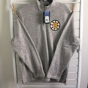 adidas Shirts - Boston Bruins Quarter Zip Up Sweater